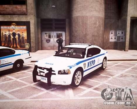 Dodge Charger 2010 NYPD ELS para GTA 4 esquerda vista