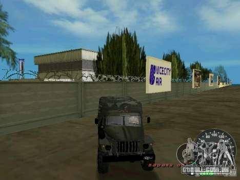 Ural 4320 militar para GTA Vice City vista superior