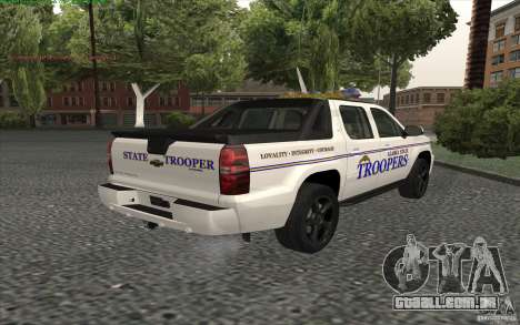 Chevrolet Avalanche Police para GTA San Andreas esquerda vista