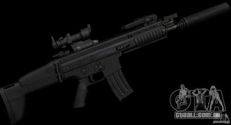 SCAR-L black para GTA San Andreas