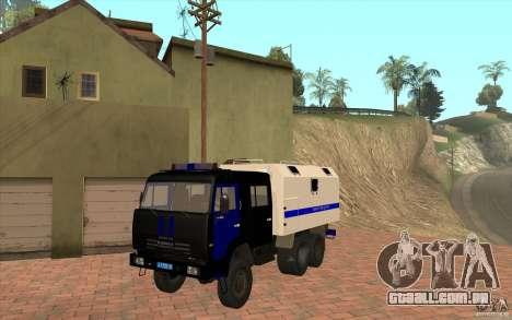 Polícia Kamaz para GTA San Andreas esquerda vista
