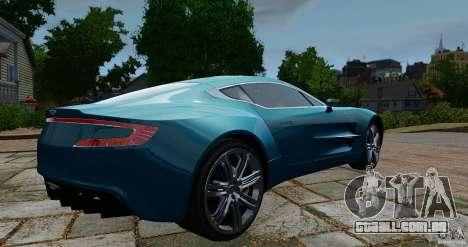 Aston Martin One-77 2012 para GTA 4 traseira esquerda vista