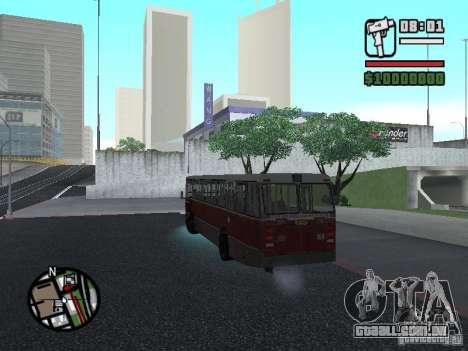 DAF CSA 1 City Bus para GTA San Andreas vista interior