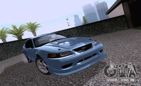 Ford Mustang SVT Cobra 2003 White wheels para GTA San Andreas esquerda vista