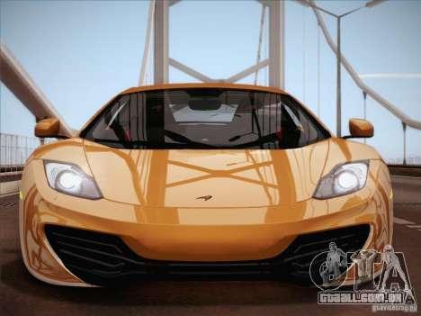 McLaren MP4-12C BETA para GTA San Andreas interior