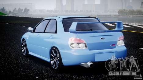 Subaru Impreza STI para GTA 4 traseira esquerda vista