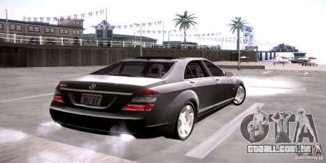 Mercedes-Benz S600 v12 para GTA San Andreas traseira esquerda vista
