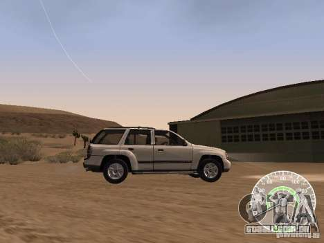 Chevrolet Trail Blazer para GTA San Andreas esquerda vista