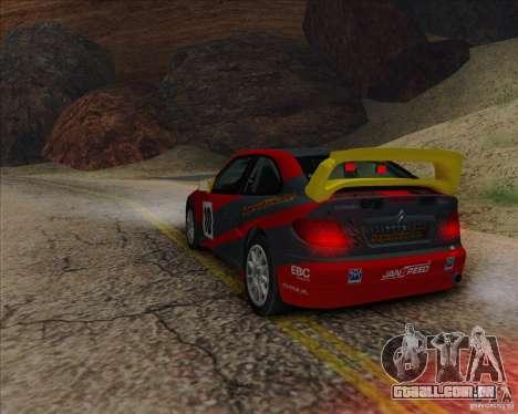 Citroen Xsara 4x4 T16 para GTA San Andreas traseira esquerda vista
