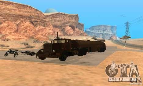 Duel Peterbilt para GTA San Andreas vista direita