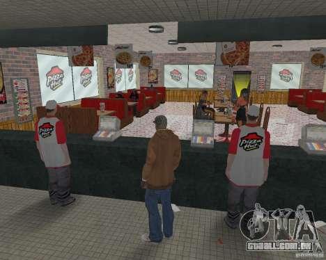 Novas texturas de restaurantes e lojas para GTA San Andreas twelth tela
