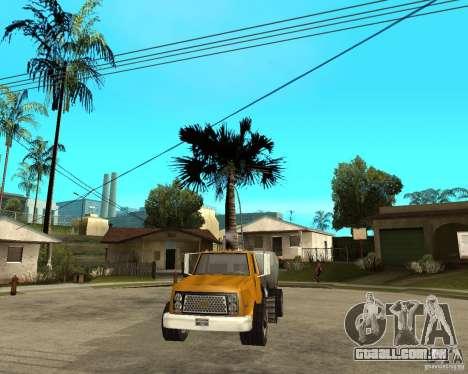 Caminhão de limpeza para GTA San Andreas vista traseira