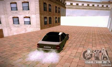 VAZ 2170 de Lada Priora para GTA San Andreas traseira esquerda vista