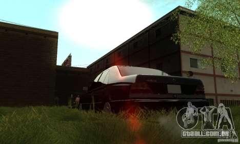 Mercedes-Benz 400 SE w140 Deputat Style para GTA San Andreas vista interior