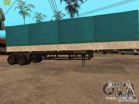 Nefaz 93344 trailer para GTA San Andreas esquerda vista