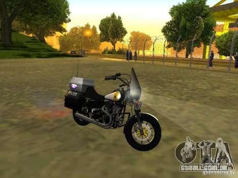 Harley Davidson Dyna Defender para GTA San Andreas esquerda vista
