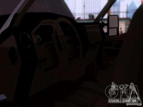 Ford F350 Super Dute para GTA San Andreas vista traseira