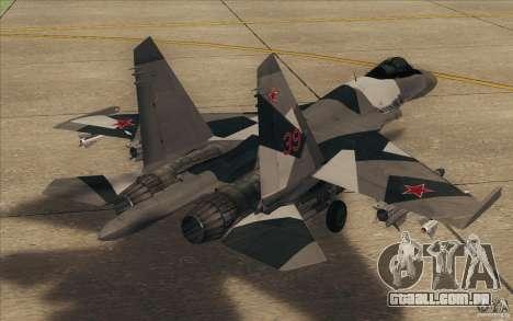 Su-35 BM v 2.0 para GTA San Andreas vista direita