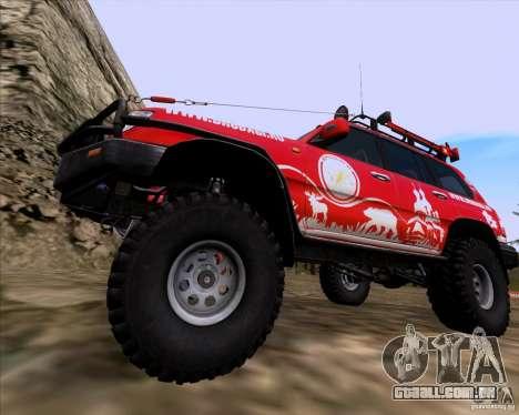 Toyota Land Cruiser 100 Off-Road para GTA San Andreas vista traseira