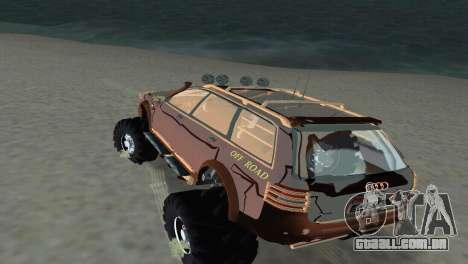 Audi Allroad Offroader para GTA Vice City vista traseira