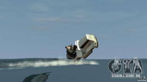 Airtug boat para GTA 4 vista direita