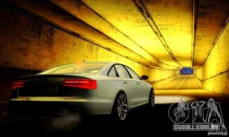 Audi A6 2012 para GTA San Andreas vista inferior