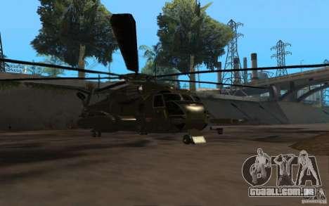 CH 53 para GTA San Andreas traseira esquerda vista