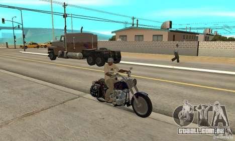 Harley Davidson FLSTF (Fat Boy) v2.0 Skin 4 para GTA San Andreas vista direita