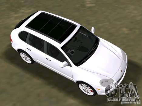 Porsche Cayenne Turbo S para GTA Vice City vista traseira esquerda