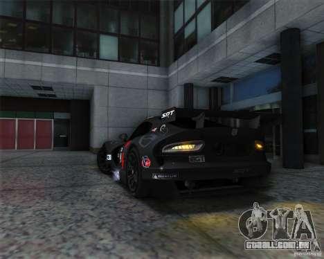 SRT Viper GTS-R V1.0 para GTA San Andreas vista traseira