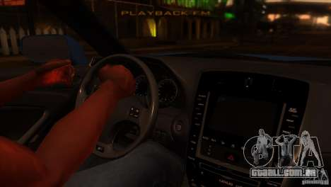 Lexus IS-F para GTA San Andreas vista interior