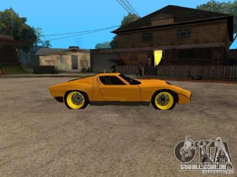 Lamborghini Miura para GTA San Andreas vista direita