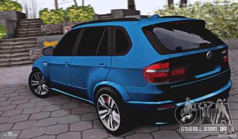 BMW X5M 2013 v1.0 para GTA San Andreas esquerda vista