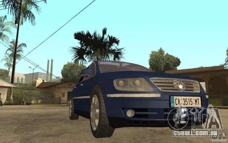 Volkswagen Phaeton 2005 para GTA San Andreas vista traseira