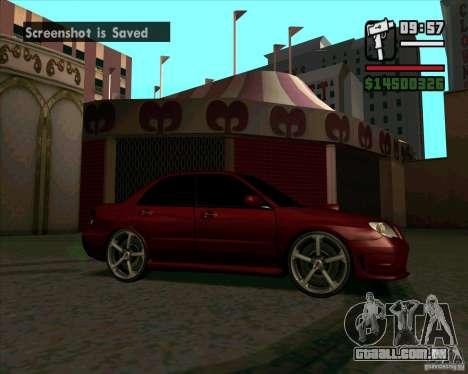 Subaru Impreza tuning para GTA San Andreas esquerda vista