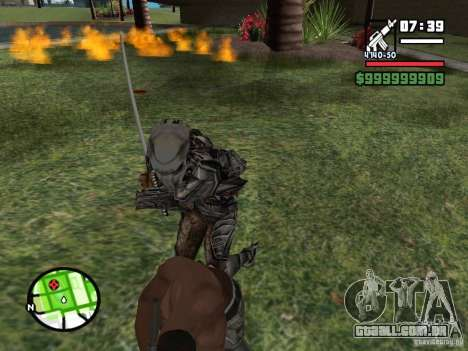 Predador para GTA San Andreas quinto tela