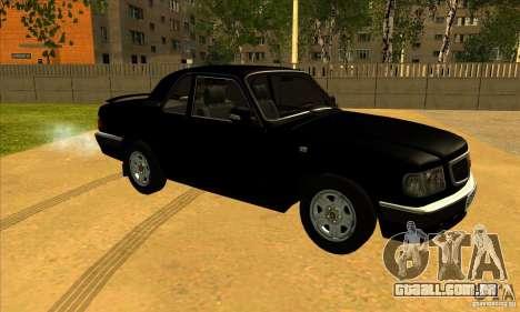 Volga GAZ 3110 sedan para GTA San Andreas esquerda vista