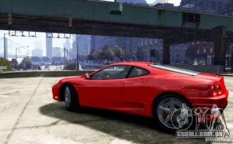 Ferrari 360 modena para GTA 4 traseira esquerda vista