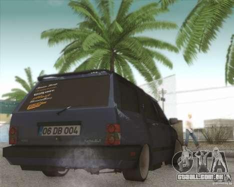 Tofas Kartal SLX para GTA San Andreas vista traseira