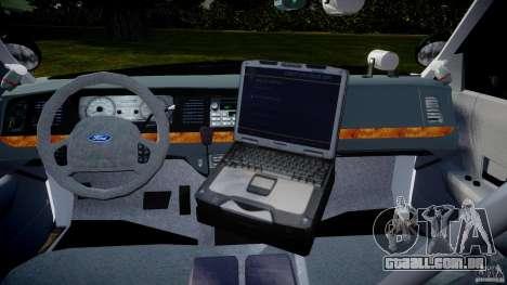 Ford Crown Victoria 2003 Florida CVPI [ELS] para GTA 4 vista direita