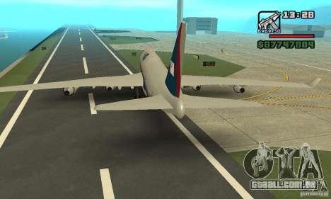 Aeronave do GTA 4 Boeing 747 para GTA San Andreas vista direita