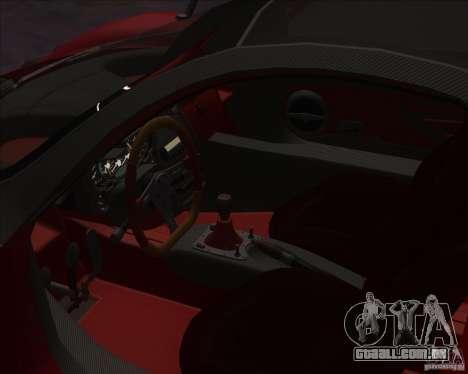 Pagani Zonda F para GTA San Andreas vista direita