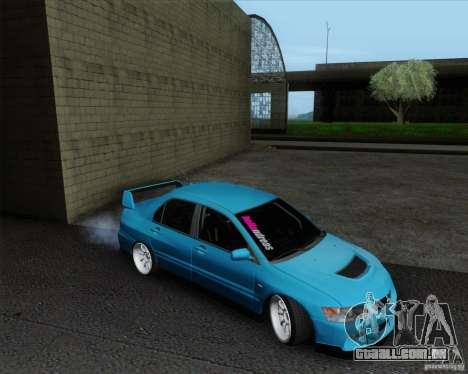 Mitsubishi Lancer Evolution VIII JDM Style para GTA San Andreas traseira esquerda vista