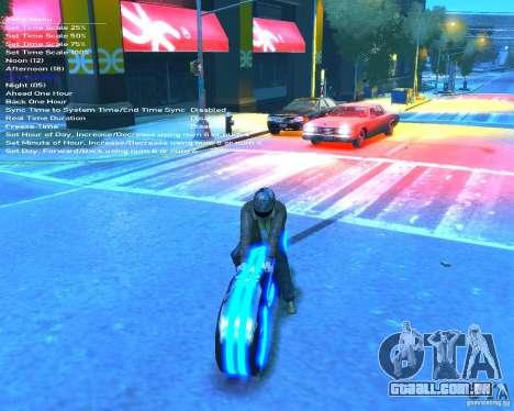 Motocicleta do trono (néon azul) para GTA 4 vista de volta