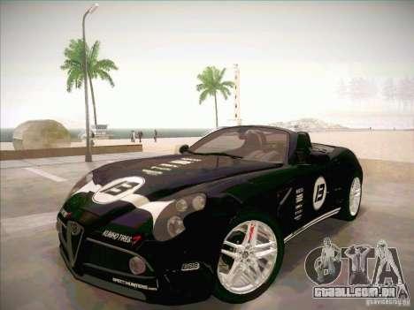 Alfa Romeo 8C Spider para GTA San Andreas vista interior
