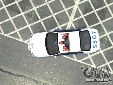 Chevrolet Impala NYCPD POLICE 2003 para GTA 4 vista de volta