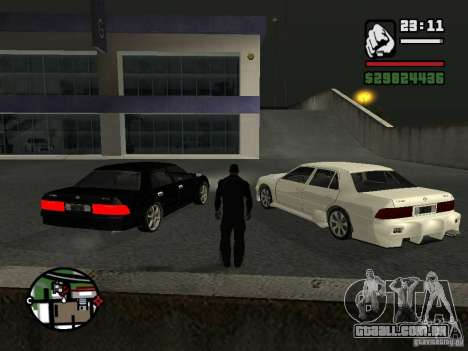 Toyota Crown Tunable para GTA San Andreas esquerda vista