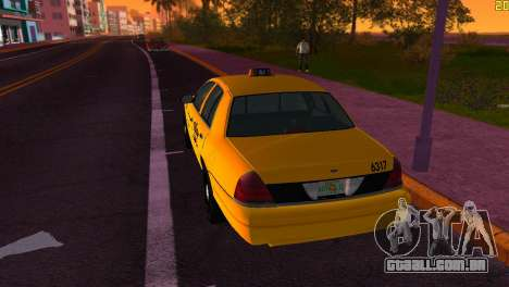 Ford Crown Victoria Taxi 2003 para GTA Vice City vista direita