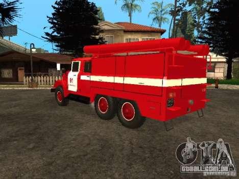ZIL-131 fogo para GTA San Andreas vista traseira