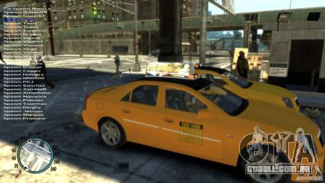 Cadillac CTS-V Taxi para GTA 4 vista direita